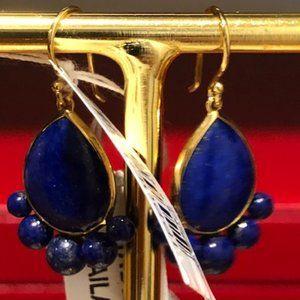 Ippolita NWT 18K gold lapis earrings